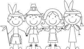 thanksgiving coloring books pilgrim and indian coloring pages thanksgiving chuckbutt com