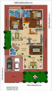 1 kanal house drawing floor plans layout with basement in dha