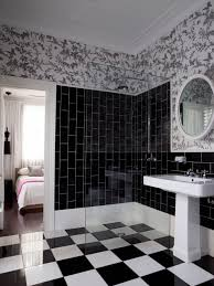 Vintage Black And White Bathroom Ideas Combination Of Black And White In The Bath Black And White