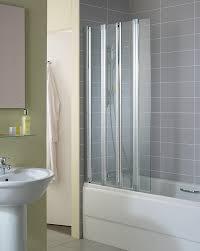 standard new connect 4 panel folding bath screen