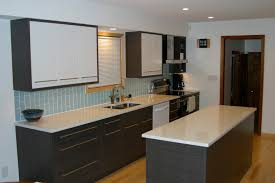 Marble Island Kitchen Delightful Subway Tile In Kitchen With Marble Countertops And