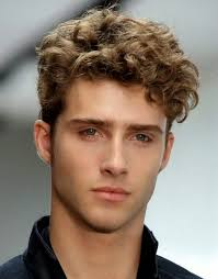 curly men haircut