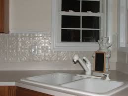 Best TIN Backsplashes Images On Pinterest Tin Tiles - White tin backsplash