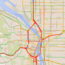 Springfield Oregon Map by Busiest Roads In Portland Oregon During Rush Hour Traffic