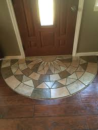 Laminate Flooring No Transitions Tile Doorway Entry Protecting The Laminate From Tracking The