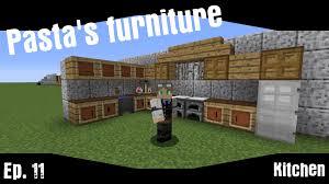 pasta u0027s furniture ep11 kitchen minecraft vanilla interior and
