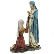 our lady of lourdes statue 10 inch the catholic company