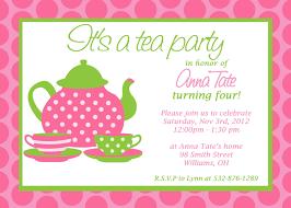 Birthday Invitation Cards Models Tea Party Invite Blueklip Com