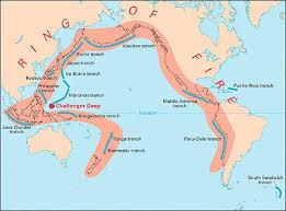 cintura di fuoco del Pacifico