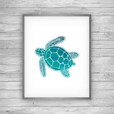 Sea Turtle Home Decor Sea Turtle Art Print Coastal Art U0026 Home Decor From 7th U0026 Palm