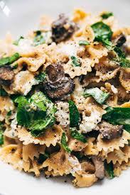 Pasta Recipes Date Night Mushroom Pasta With Goat Cheese Recipe Pinch Of Yum