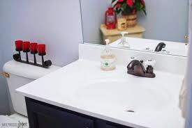 Bathroom Vanities Inexpensive by Remodelaholic Painted Bathroom Sink And Countertop Makeover