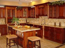 Kitchen Color Ideas With Cherry Cabinets Exotic Red Cherry Cabinets Kitchen Ideas Artbynessa
