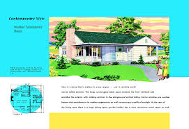 1940s and 50s house plans contemprary houses and floor plans of