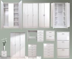White Modern Bedroom Furniture Set Decorate White Gloss Bedroom Furniture Editeestrela Design