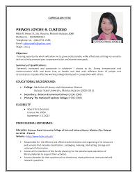 Resume Writing For Teaching Job by Sample Resume Applying Teaching Job Sample Resume Format For Job