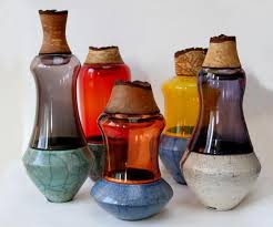 Decorative Glass Vases Colored Glass Vases Enhancing Handmade Decor Accessories With