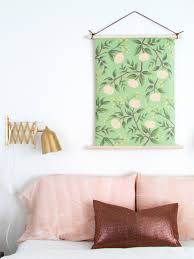 pull down style botanical wall hanging paper walls diy paper
