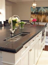 White Kitchen Cabinets With Black Granite Countertops by Countertops Black Granite Countertop Natural Finishes Flat