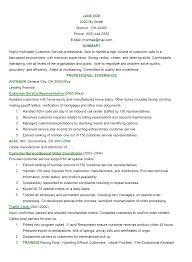 Customer Service Experience Resume 10 Customer Service Resume Summary Worker Resume