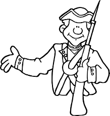american revolution am his french indian soldier coloring page