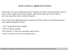 Application Letter For Any Position In A Hotel   Resume Maker     Cover Letter Templates