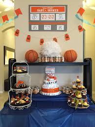 all star basketball themed baby shower dessert table baby