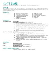 resume summary examples for students best social worker resume example livecareer create my resume
