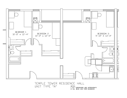 East Wing Floor Plan by Temple Towers University Housing And Residential Life