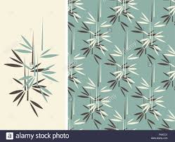 a japanese style bamboo seamless tile and its isolated pattern in