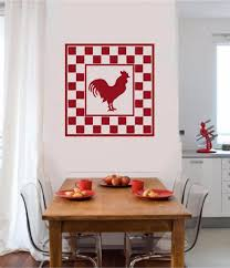 rooster chicken vinyl decal wall sticker primitive country kitchen