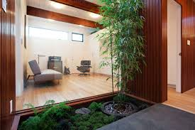 interior courtyard modern garden natural design interior