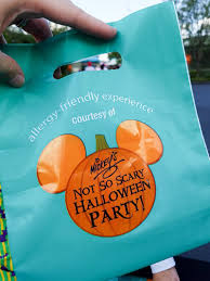allergy friendly treats offered at mickey u0027s not so scary halloween