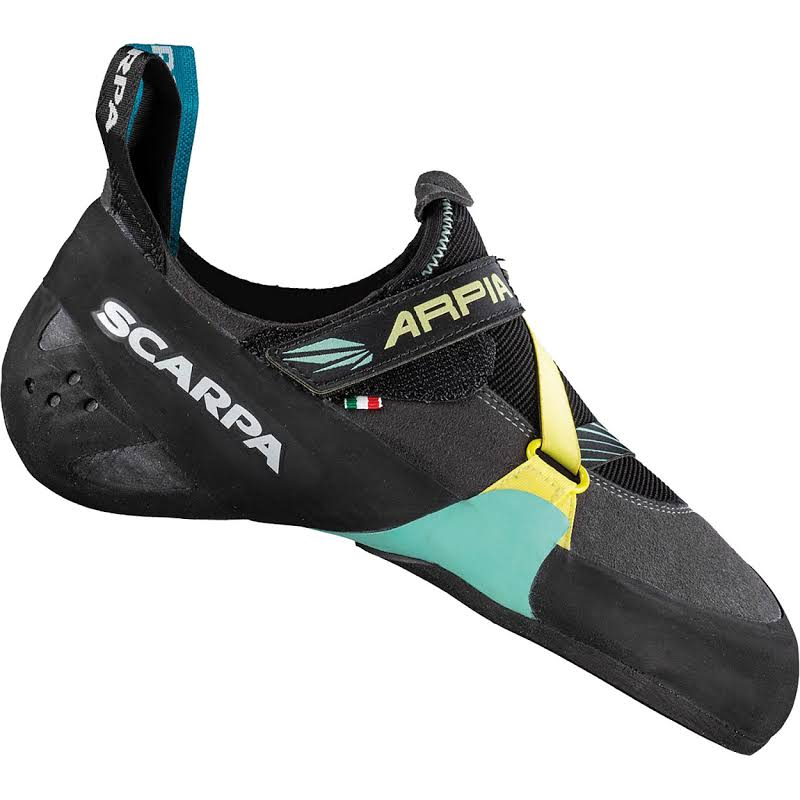 Scarpa Arpia Climbing Shoes Black/Aqua Medium 38 70058/002-BlkAqua-38