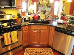 Stove In Kitchen Island Country Kitchen Wall Decor Curve Edges Cabinets Maple Island Green