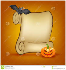 halloween background of wich halloween scroll background royalty free stock image image 32250976