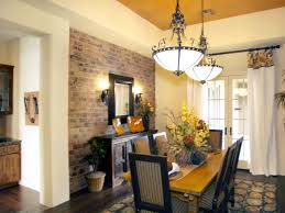 Fake Exposed Brick Wall Brick Wall In Dining Room Interior Nice View With Exposed Brick