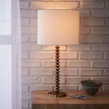 Candlestick Lamp by Candlestick Table Lamp Ribbed Antique Brass West Elm