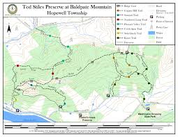 Map Nj Ted Stiles Preserve At Baldpate Mountain New Jersey Trails