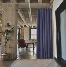 roomdividersnow premium tension curtain rods roomdividersnow black tension rod room divider curtain 1
