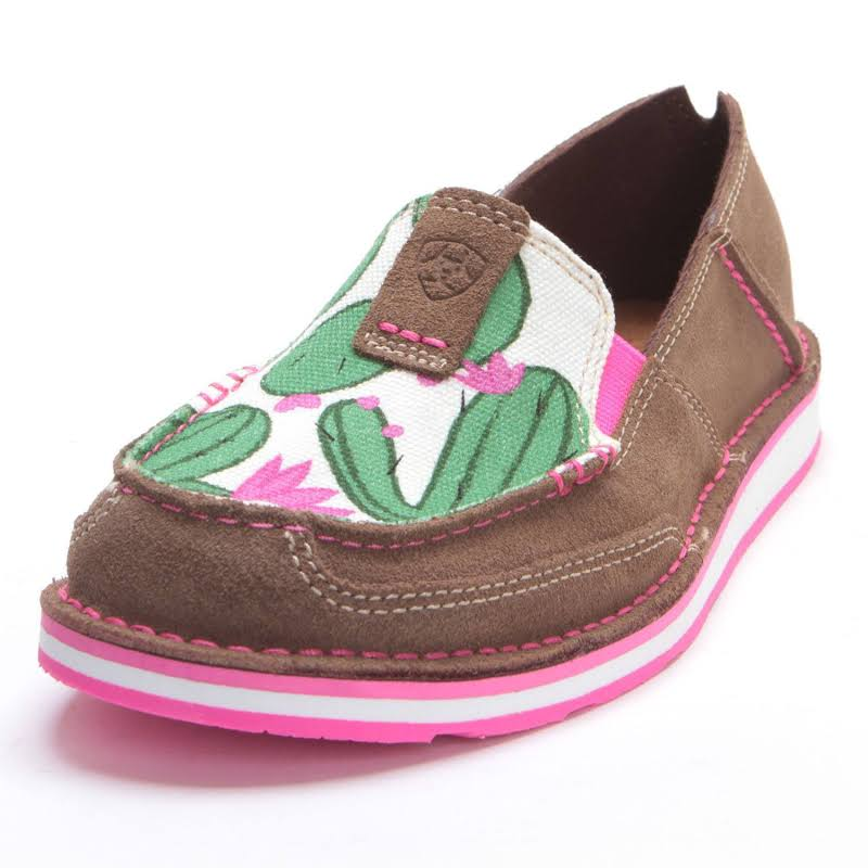 Ariat Ladies Cruiser Cactus Print Relaxed Bark Shoe 10023012