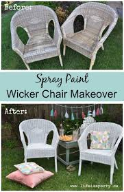 Spray Painting Metal Patio Furniture - best 25 spray paint wicker ideas on pinterest spray painted