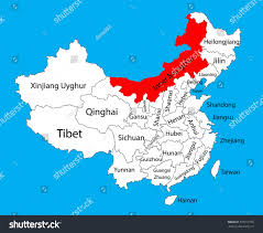 Map Of China Provinces Inner Mongolia Province Map China Vector Stock Vector 323312795