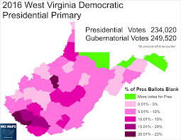 Map Of West Virginia Counties The West Virginia Democratic Primary Protest Vote And Bernie