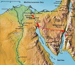 Exodus Route Map by The First And Second Exodus From Egypt Exodus From Egypt