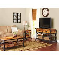 Living Room Furniture Tv Cabinet Better Homes And Gardens Rustic Country Antiqued Black Pine Panel