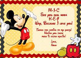 Free Printable Birthday Invitation Cards With Photo Mickey Mouse Printable Birthday Invitations U2013 Gangcraft Net