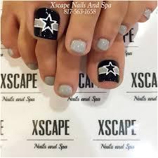 dallas cowboys toe designs toe nails designs pinterest