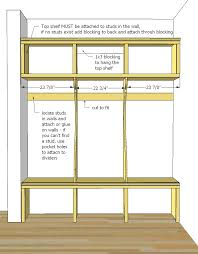 Simple Free Standing Shelf Plans by Ana White Smiling Mudroom Diy Projects