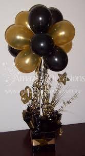 black and gold balloon centerpiece bing images pasteles de